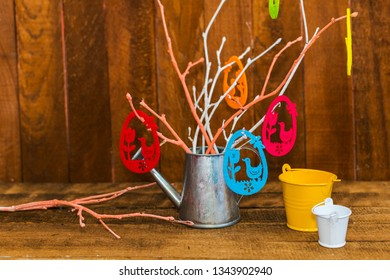 decorative composition. happy Easter card