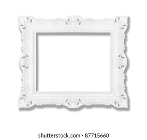 Decorative contemporary white frame, similar available in my portfolio
