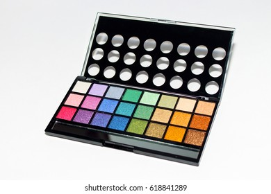 Decorative cosmetics for makeup. Concealers closeup .Cosmetics for contouring the face.