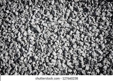 decorative crushed grey gravel texture - pattern background