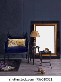 Decorative dark blue retro home design all kind of home ornaments and interior project