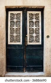 Decorative door in Dubrovnik old town, Croatia
