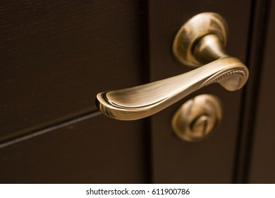 Decorative door with handle at apartment