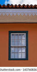 Decorative eaves on colonial house, Ouro Preto, Brazil