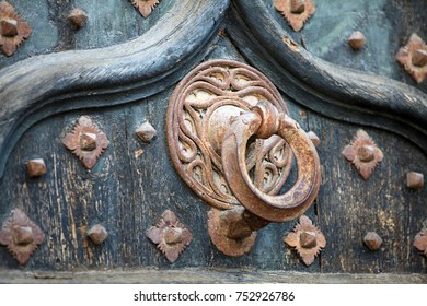 Decorative element of Girona Cathedral in Catalonia, Spain, Romanesque, Gothic and Baroque architecture, city landmark