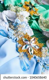 decorative element for needlework - brooch