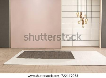 Decorative Empty Living Room Bedroom Interior Stock Photo Edit Now Unique Carpeting For Bedrooms Concept Decoration