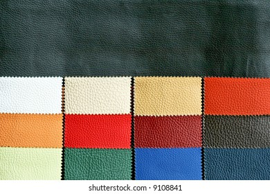 Decorative and fashion leather skin color chart