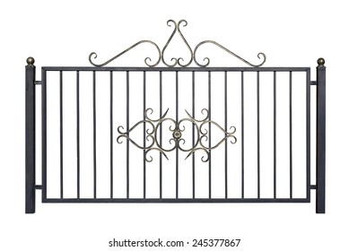 Decorative fence for the park and at home. Isolated over white background.