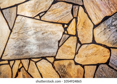 Decorative flagstone wall can be used as backgrounds