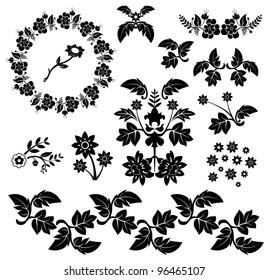 decorative floral collection