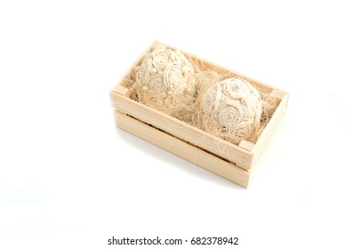 decorative flower arrangement in a wooden box. The concept of a romantic holiday