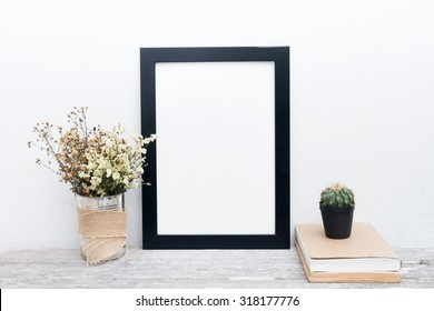 decorative frame on the white wall