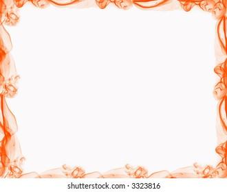 Decorative framework, colored smoke over white paper