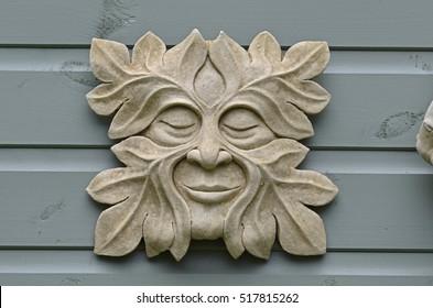Decorative Garden Plaque Of The U0027Green Manu0027