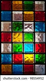 Decorative Glass Blocks in different colors