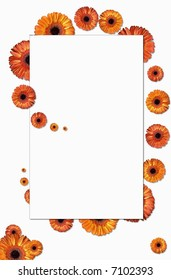 Decorative greetings card with flowers.