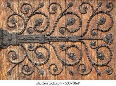 Decorative Iron pattern Hinge