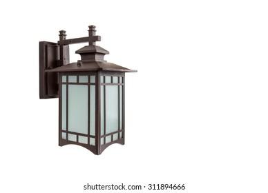 Decorative lamp isolated the white background