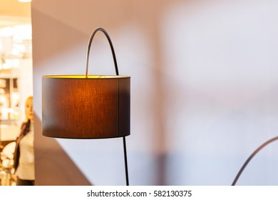 decorative lamp on the fair, note shallow depth of field