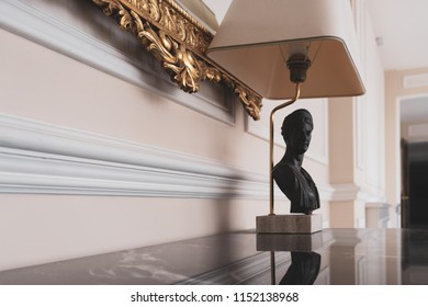 Decorative lamp on the table
