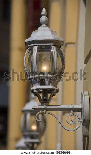 Decorative lanterns in a historical part of St.-Petersburg