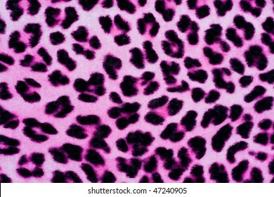 Decorative Leopard Printed Fur Background in Pink and Black