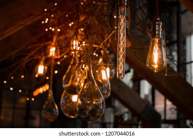 Decorative lighting with vintage lamps