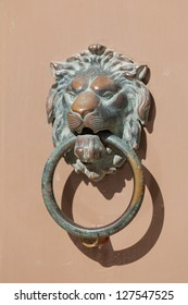 Decorative maltese brass door handle
