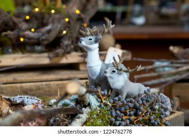 Decorative miniature reindeer