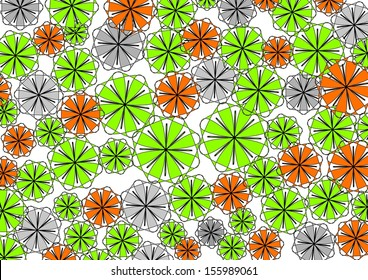 vibrant design modern floral wallpaper. Decorative modern vibrant circular abstract design with floral and  geometric textured motifs on a plain white Modern Abstract Floral Design Pretty Stock Illustration