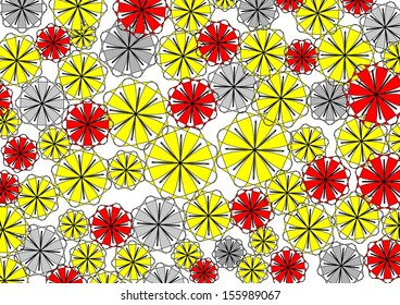 vibrant design modern floral wallpaper. Decorative modern vibrant circular abstract design with floral and  geometric textured motifs on a plain white Floral Doodle Seamless Pattern Colorful Vector Stock