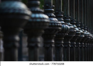 Decorative old style fence