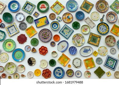 Decorative ornamental plates on the wall