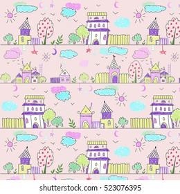 Decorative pattern children's houses