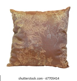 Decorative pillow isolated with clipping path included