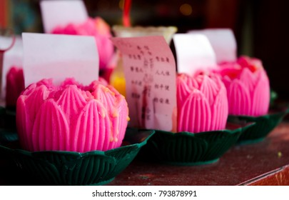 Decorative Pink Wax Candles - December 2017 - George Town, Penang, Malaysia