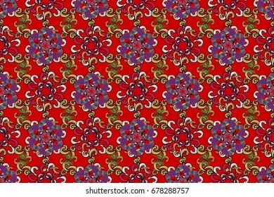 Decorative raster ornate colored mandala icon isolated for card, colored Mandala on a red background. For invitation card, scrapbook, banner, postcard, tattoo, yoga, boho, magic, carpet, tile or lace.