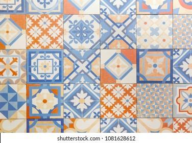 Decorative retro porcelain tiles