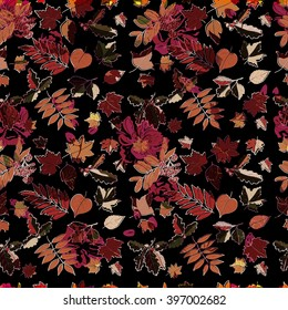 Decorative seamless pattern with abstract design