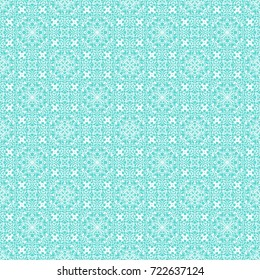 Decorative seamless white pattern for retro design