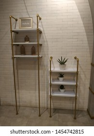 decorative shelves in cafes and restaurants with modern classic designs