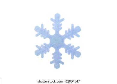 decorative snowflake isolated on white background