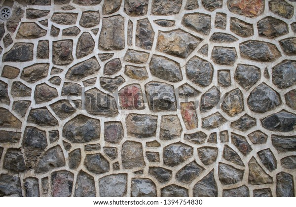 Decorative Stone Wall Natural Rock Looking Stock Photo Edit Now