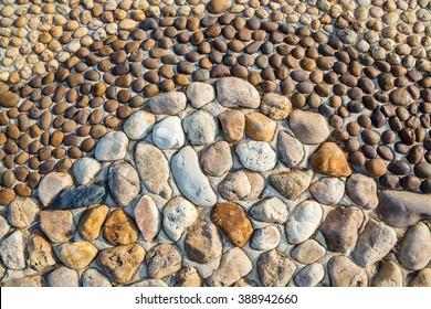 Decorative stones in the Park.