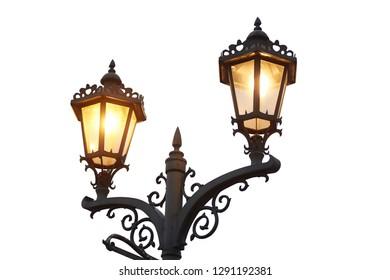 Decorative stylized streetlights