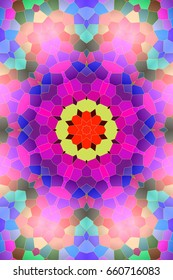 Decorative texture. the beauty of the background. decoration of a kaleidoscope. Modern floral pattern. Raster illustration.