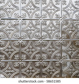 decorative tin tile ceiling of wall covering