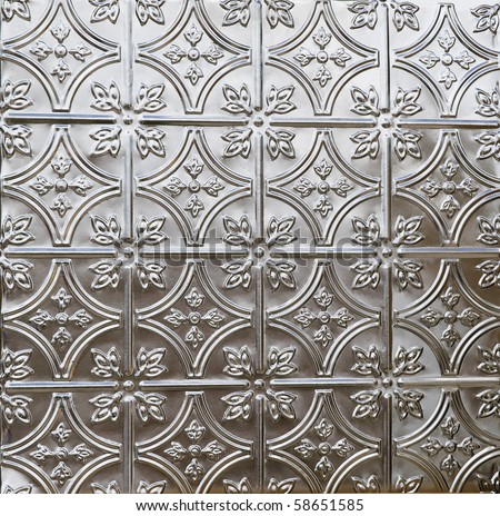 Decorative Tin Tile Ceiling Wall Covering Stock Photo (Edit Now ...