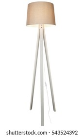 DECORATIVE TRIPOD STANDING LIGHT / FLOOR LAMP / LAMPSHADE